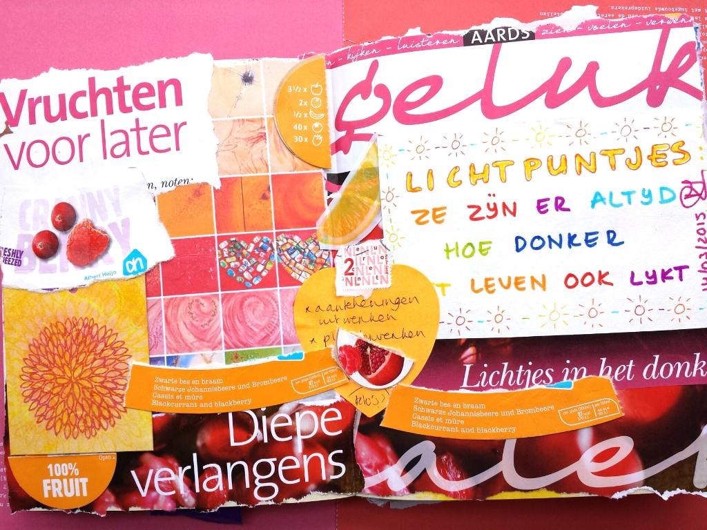 Lichtpuntje 190 Een collage maken met oude restjes uit de papierbak
