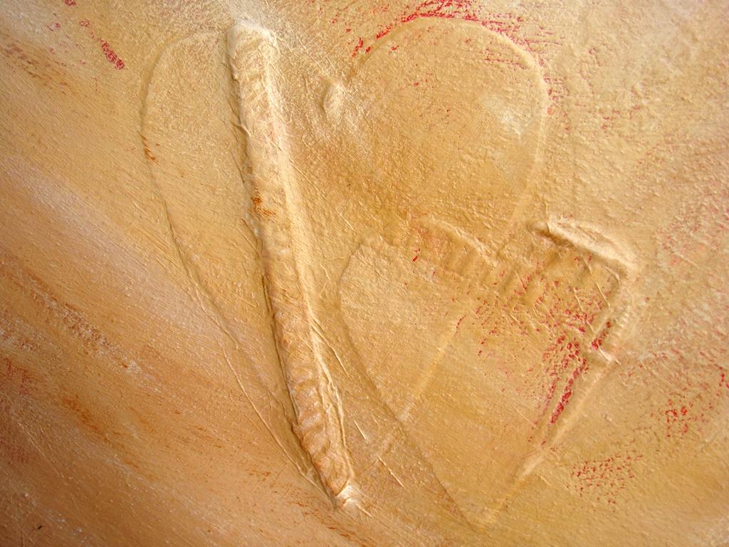 Een detail uit schilderij Stem van je hart (abstracte schilderijen reliëf) van Marloes van Zoelen
