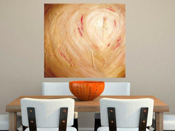 Schilderij Spoor van liefde I boven eettafel