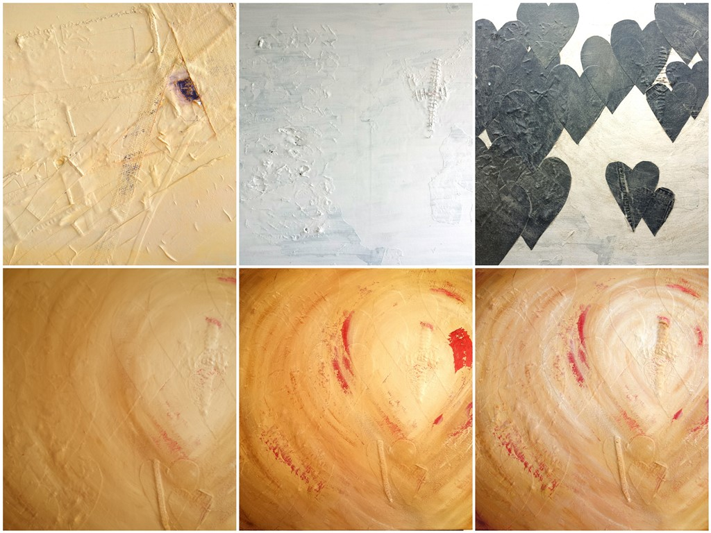 Schilderij Stem van je hart - Collage totstandkoming