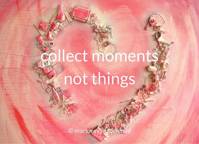 Schilderij Gebroken hart met quote Collect moments not things