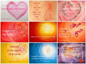 10 gratis printable posters van mijn schilderijen met inspirerende quotes erop