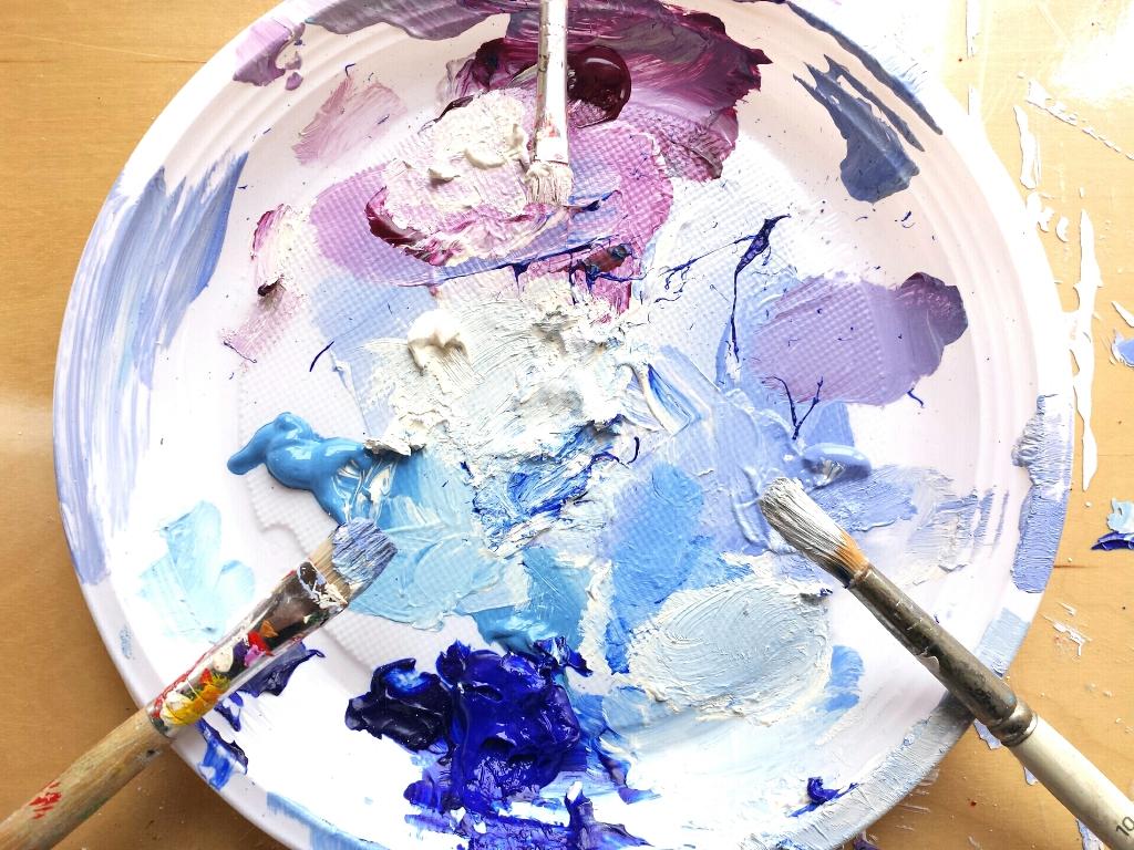 Schilderij in opdracht - de verf