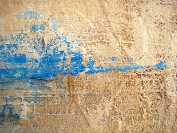 Een detail uit schilderij Spoor van liefde II