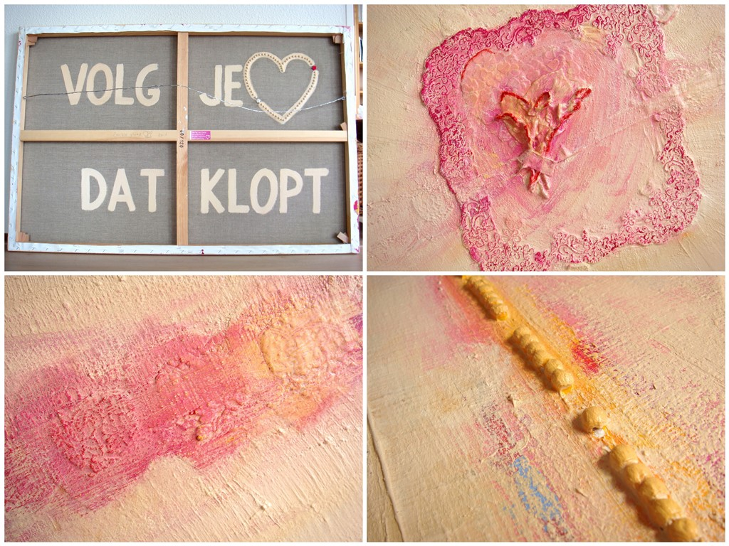 Schilderij op maat laten maken - trouwdag - collage met details