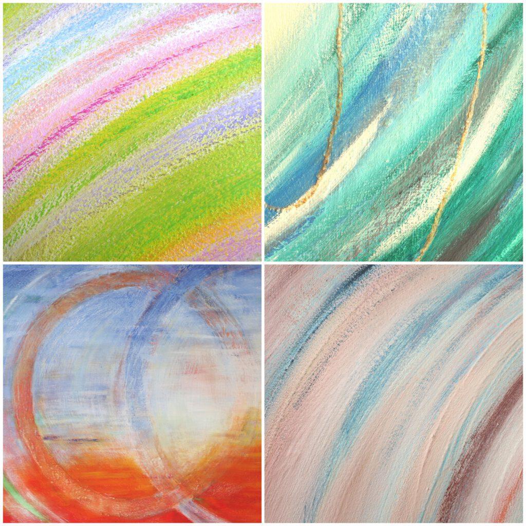 Herinneringsschilderij laten maken - voorbeelden kleuren en vormen - Marloes van Zoelen
