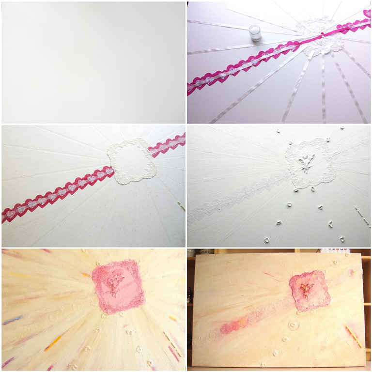Schilderij op maat laten maken - Huwelijksdag - Voorbeeld making of