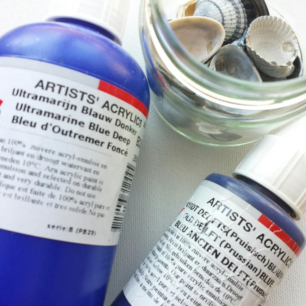 Blauw schilderij laten maken - materialen