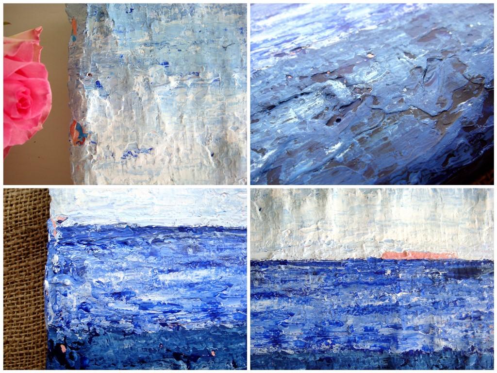 Blauw schilderij laten maken - Zee van rust - Details