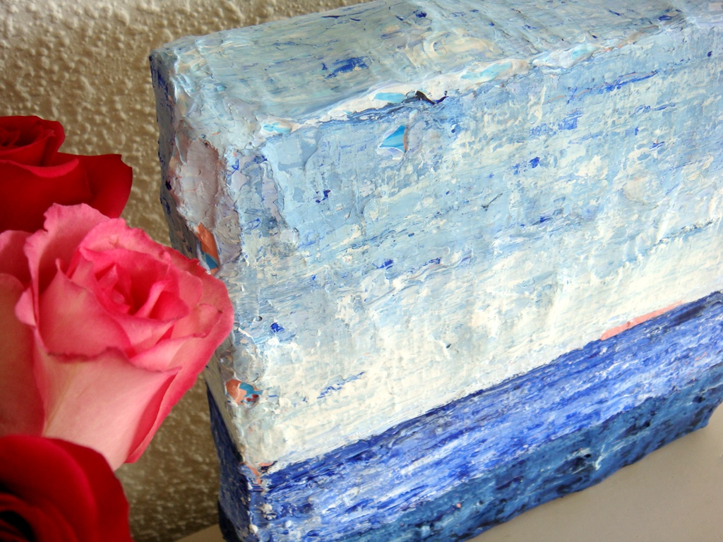 Blauw schilderij laten maken - Zee van rust