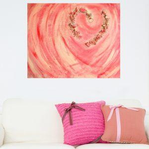 Herinneringsschilderij Gebroken hart - Marloes van Zoelen