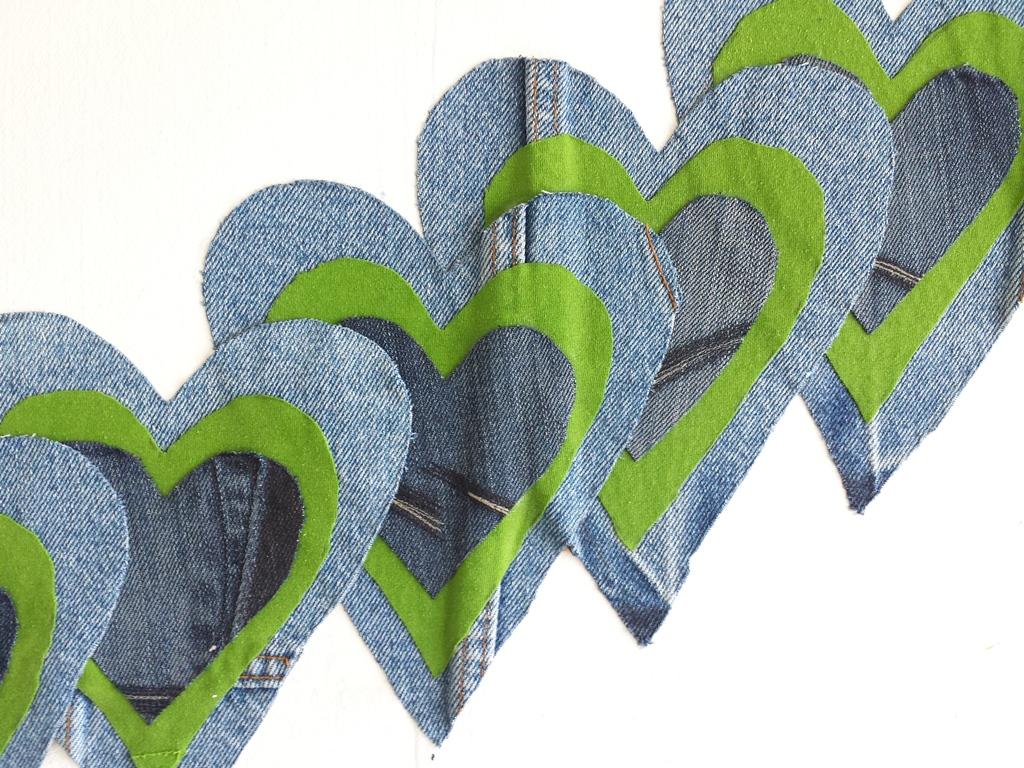 Schilderij Zee van warmte - Marloes van Zoelen - Baan van harten