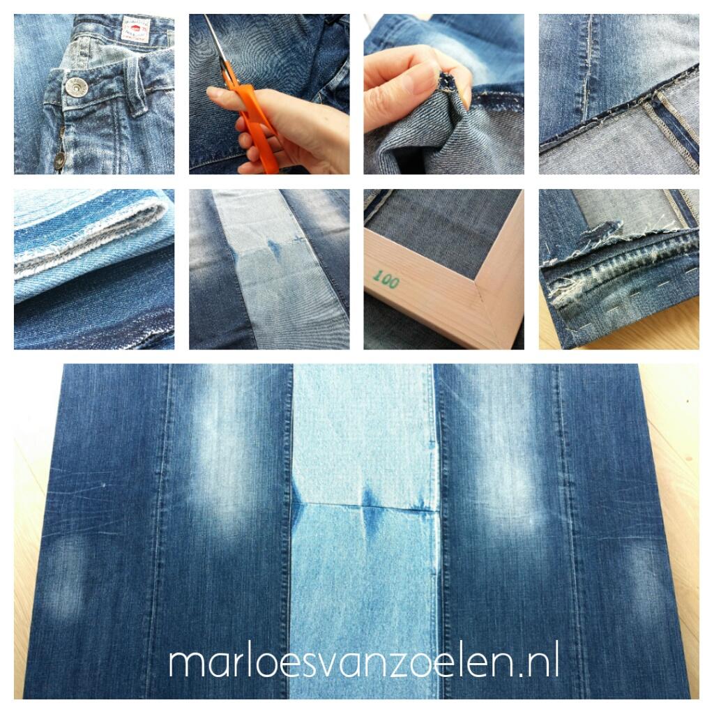 Schilderij Zee van warmte - Marloes van Zoelen - Canvas van spijkerbroeken