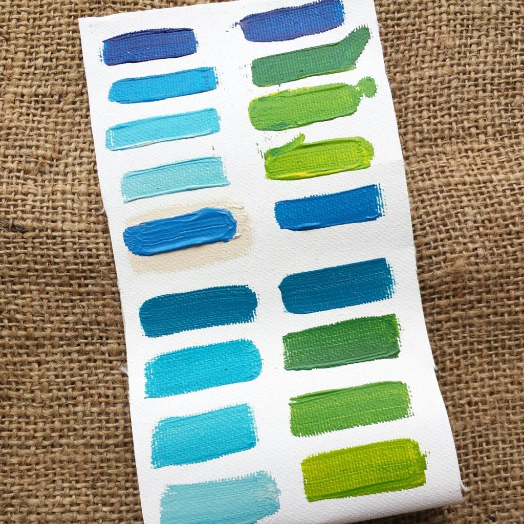 Schilderij Zee van warmte - Marloes van Zoelen - Kleurenpalet