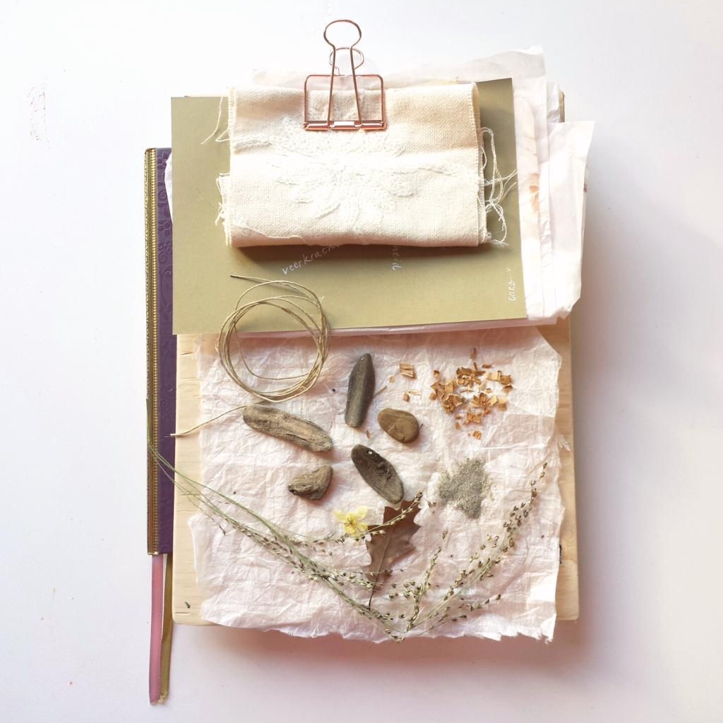 Schilderij naar wens laten maken - door Marloes van Zoelen - voorbeeld moodboard