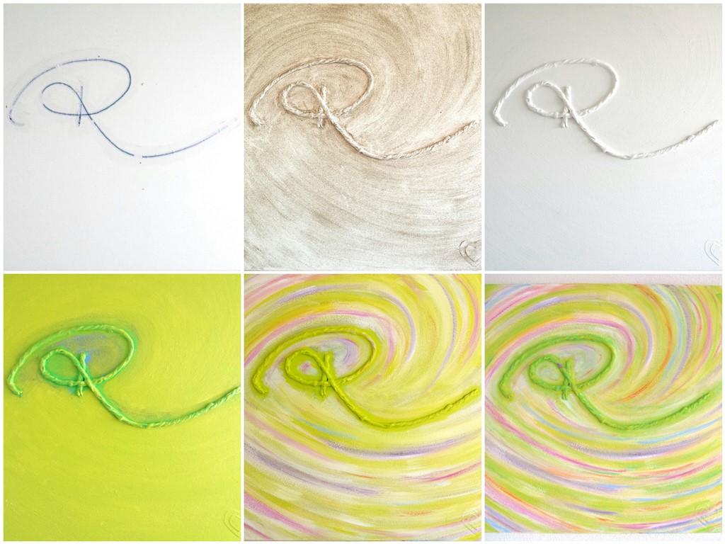 Herinneringsschilderij laten maken - Voorbeeld making of - Marloes van Zoelen