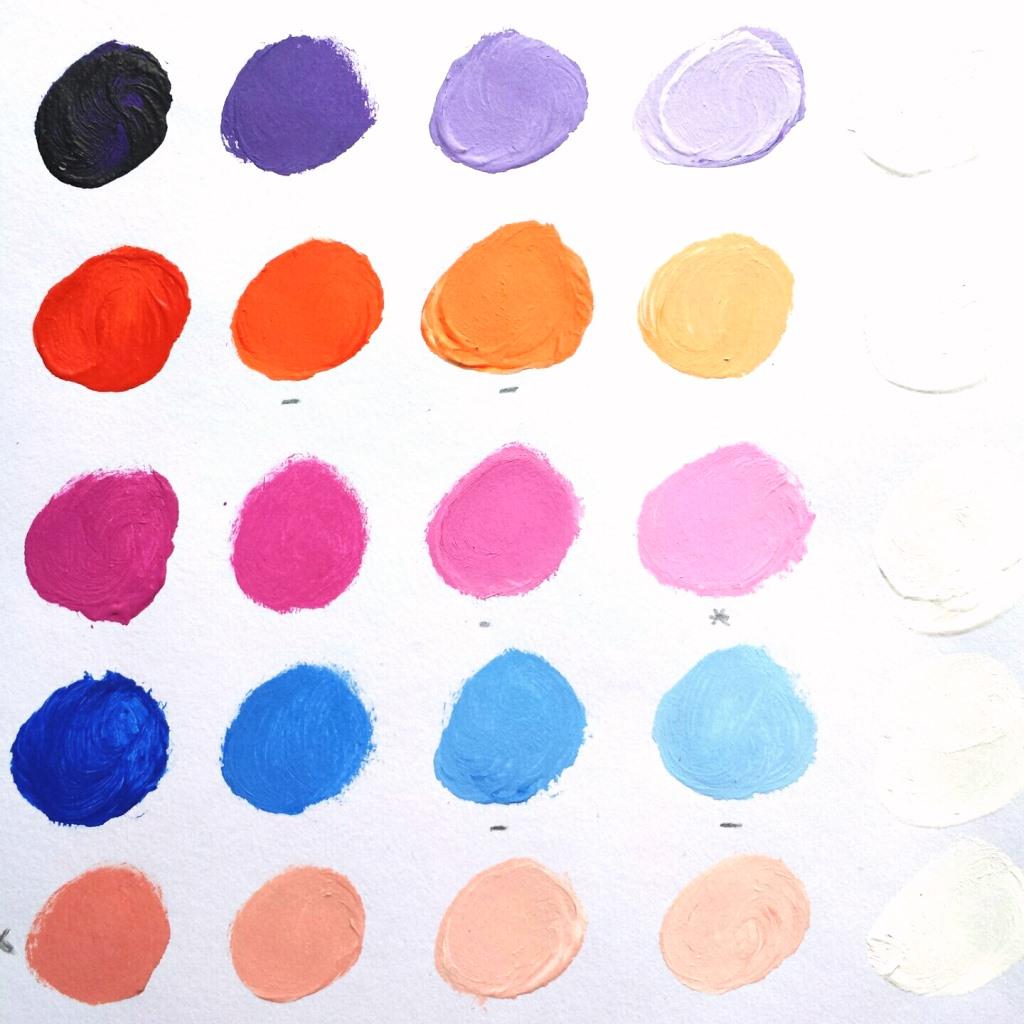 Persoonlijk schilderij in opdracht laten maken - Voorbeeld kleurenpalet