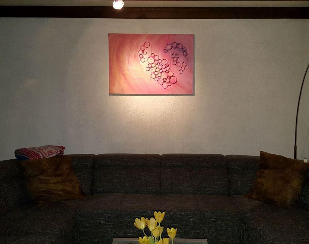 Schilderij Deksels hart bij de klant thuis