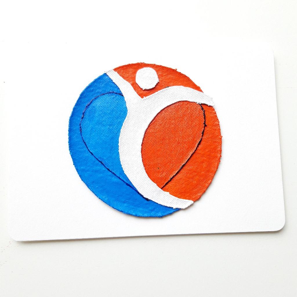 Kaart met logo fysiotherapiepraktijk - Marloes van Zoelen