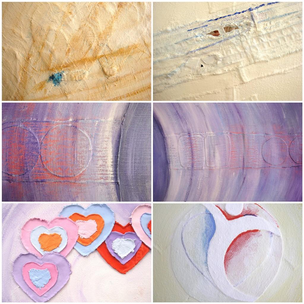 Schilderij natuurlijke materialen - Voorbeelden gebruik spijkerstof