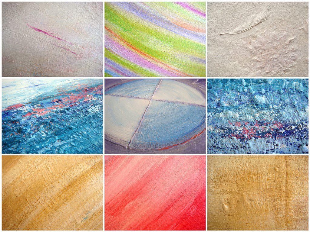 Schilderij natuurlijke materialen - Voorbeelden gebruik zand