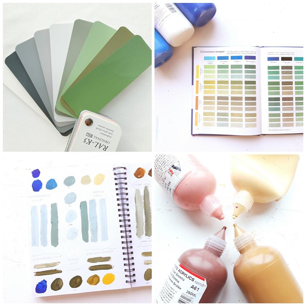 Herinneringen schilderij -Kleurenstudie