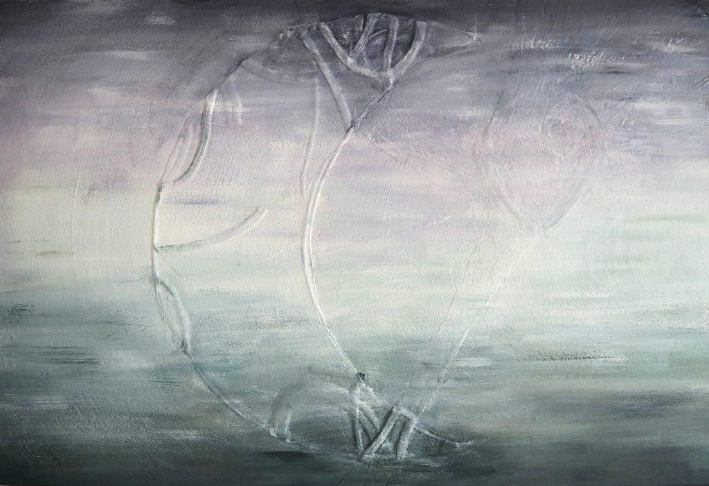 Herinneringen schilderij in opdracht met maan