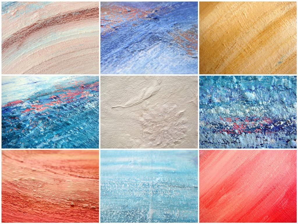 Schilderij natuurlijke materialen - Voorbeelden van gebruik zand