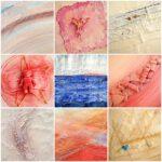 Schilderij natuurlijke materialen - Materie en voorwerpjes in een schilderij verwerken - Voorbeelden