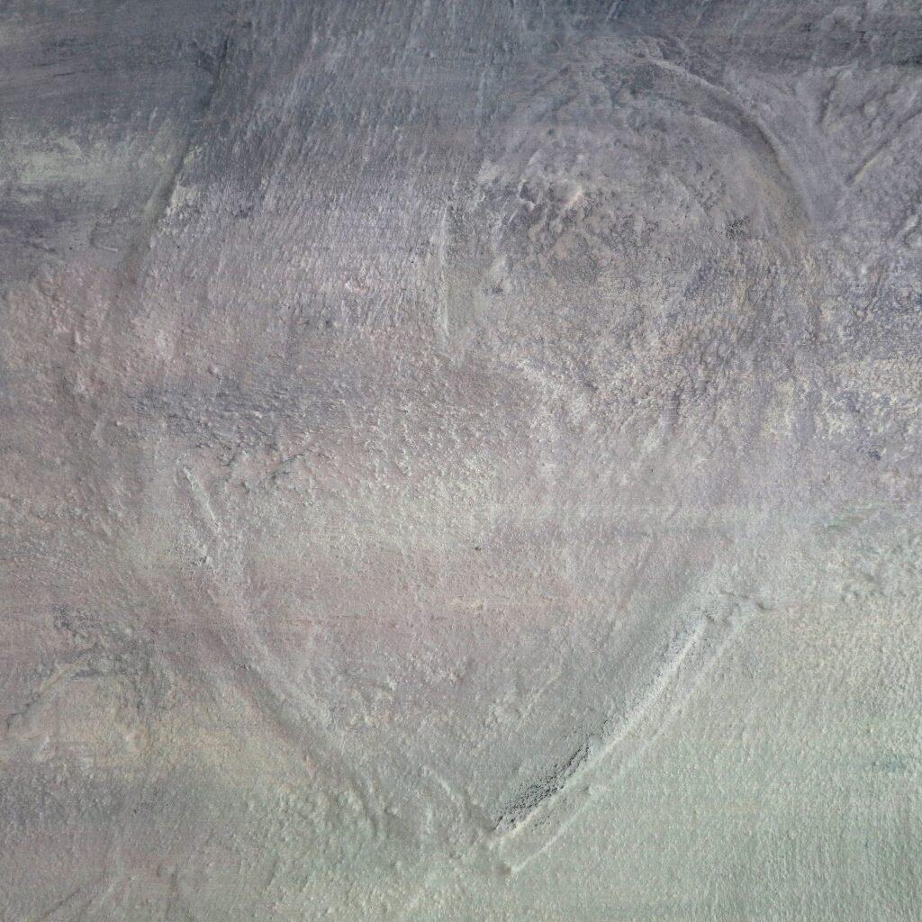 Herinneringen schilderij - Detail - Hart