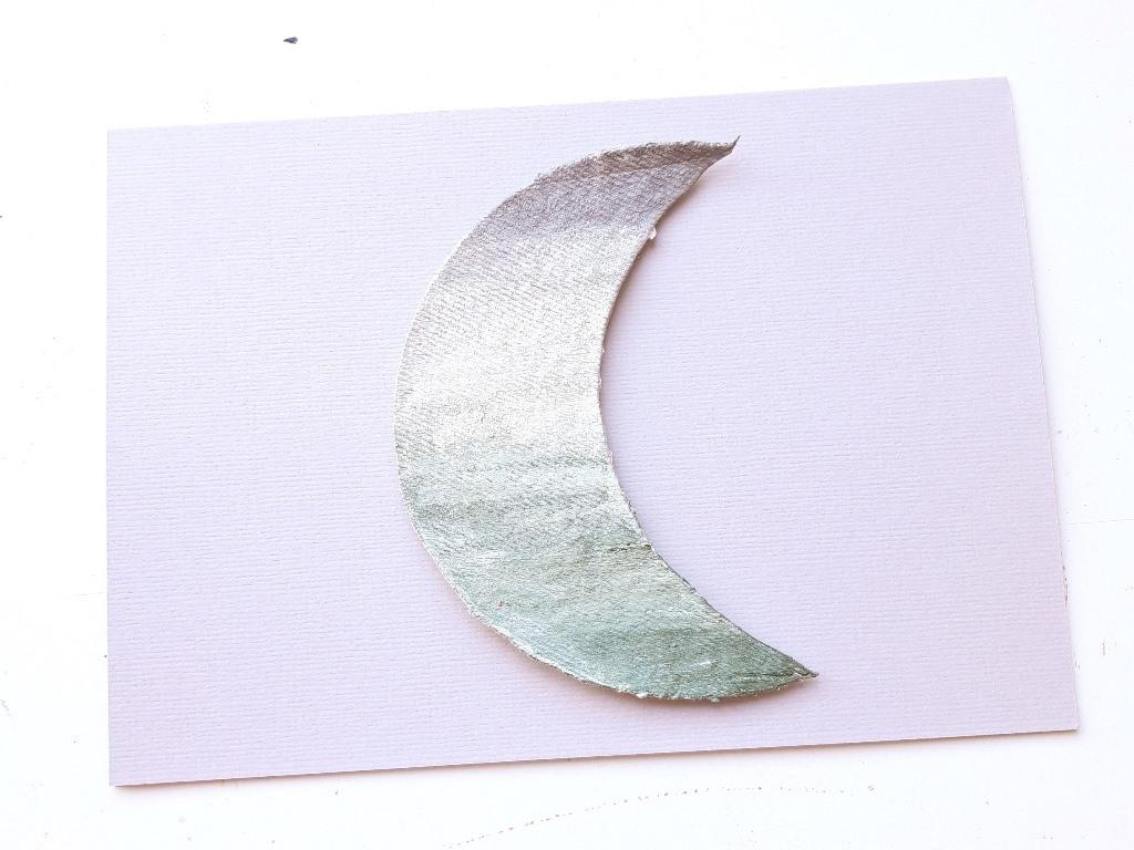 Voorproefje herinneringen schilderij met maan - kaart