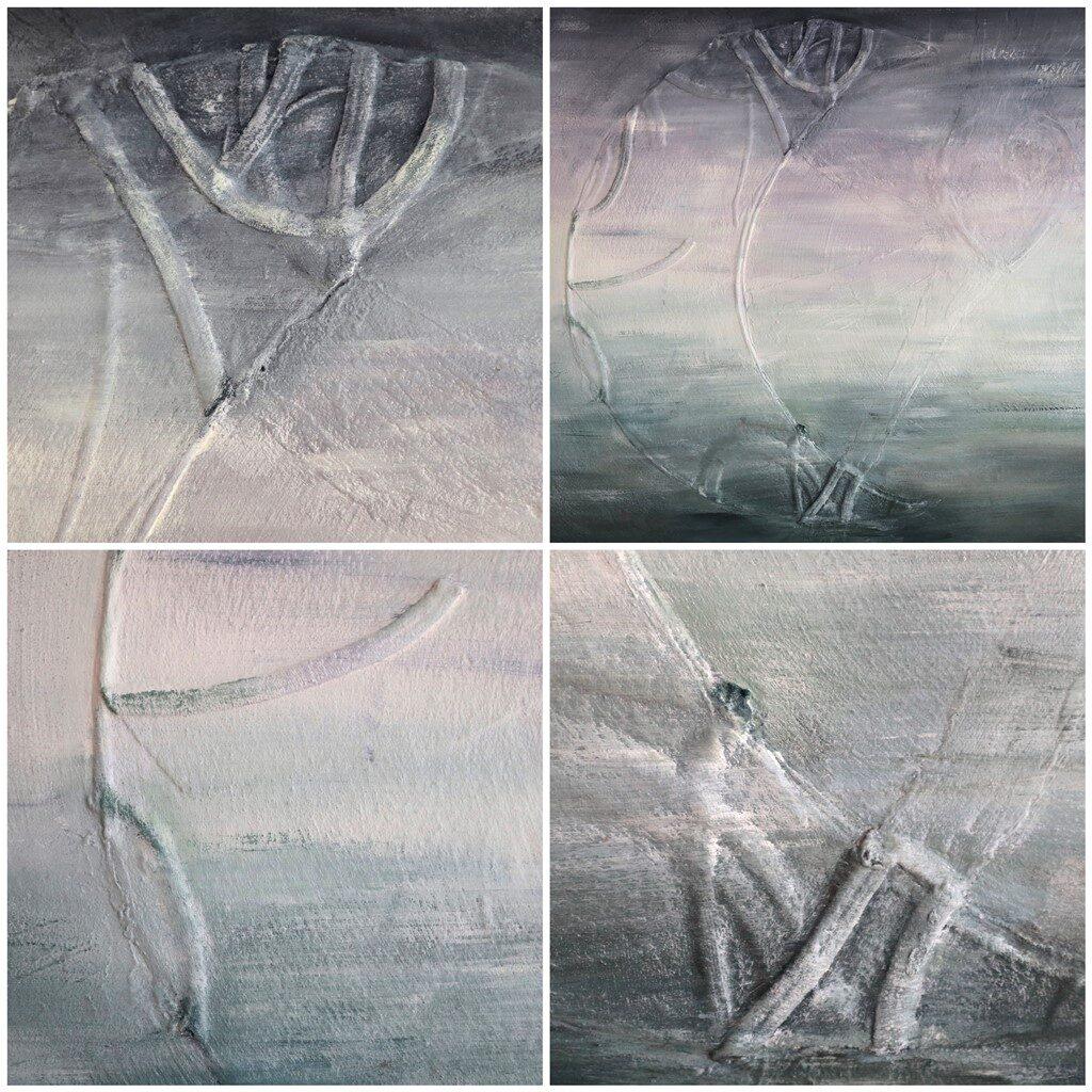 Herinneringen schilderij overleden zoon - impressie details