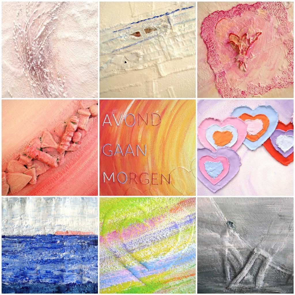 Abstract schilderij laten maken - Details uit eerdere opdrachten