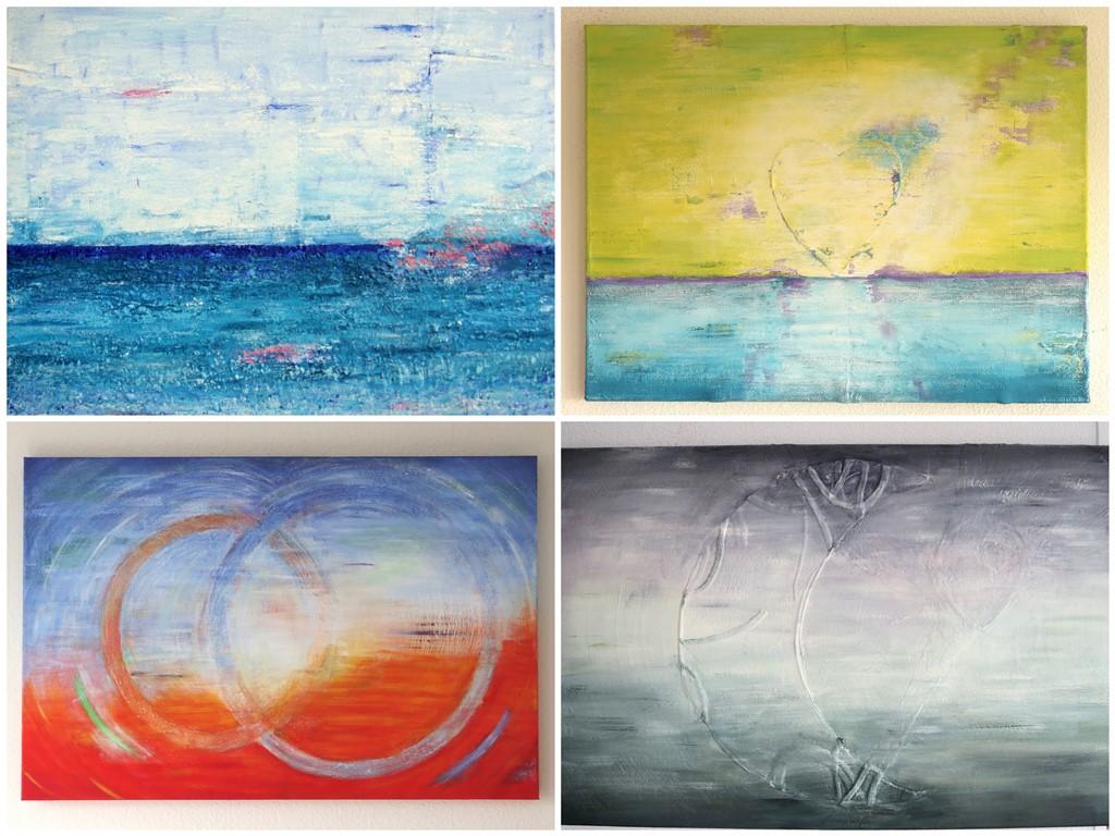 Bijzondere abstracte schilderijen - voorbeelden van het gebruik van vlakvormen