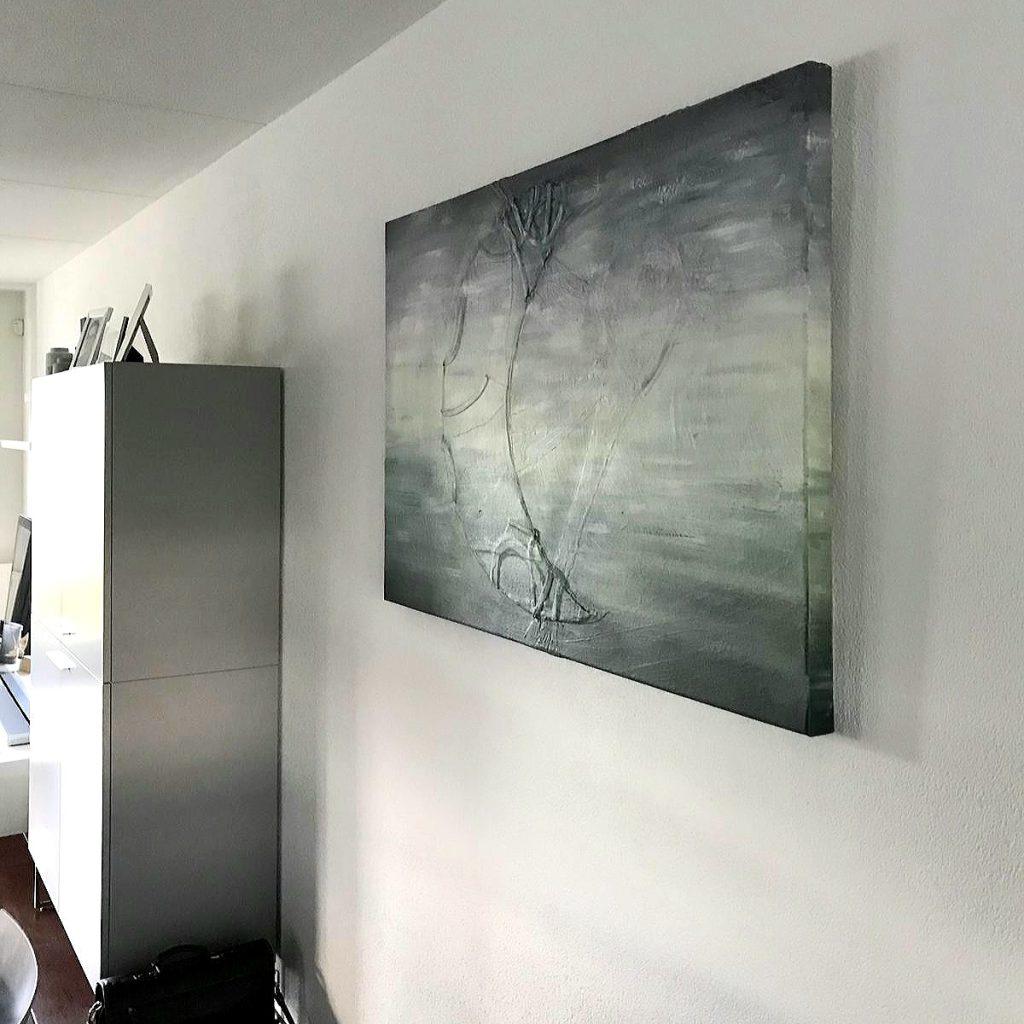 Herinneringsschilderij Eeuwige verbinding bij de klant thuis