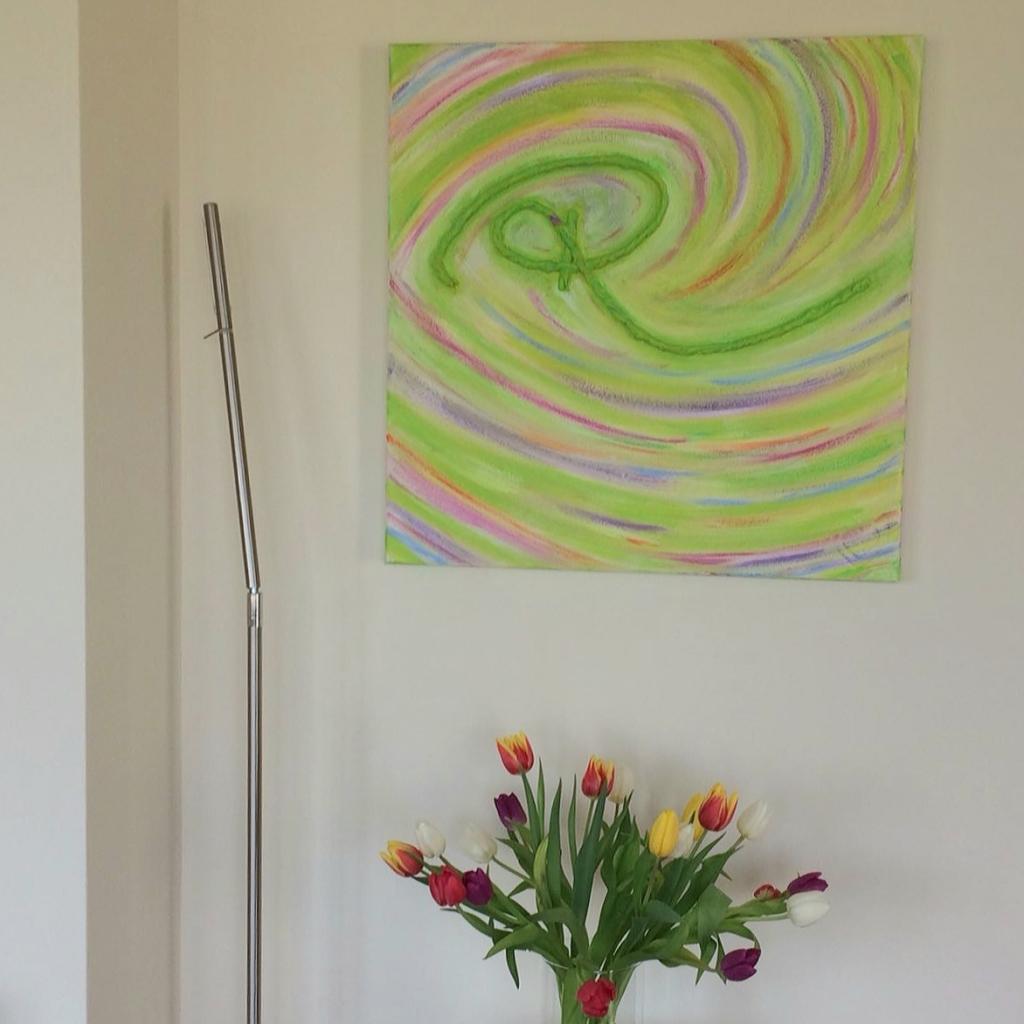 Herinneringsschilderij Oneindige verbinding bij de klant thuis