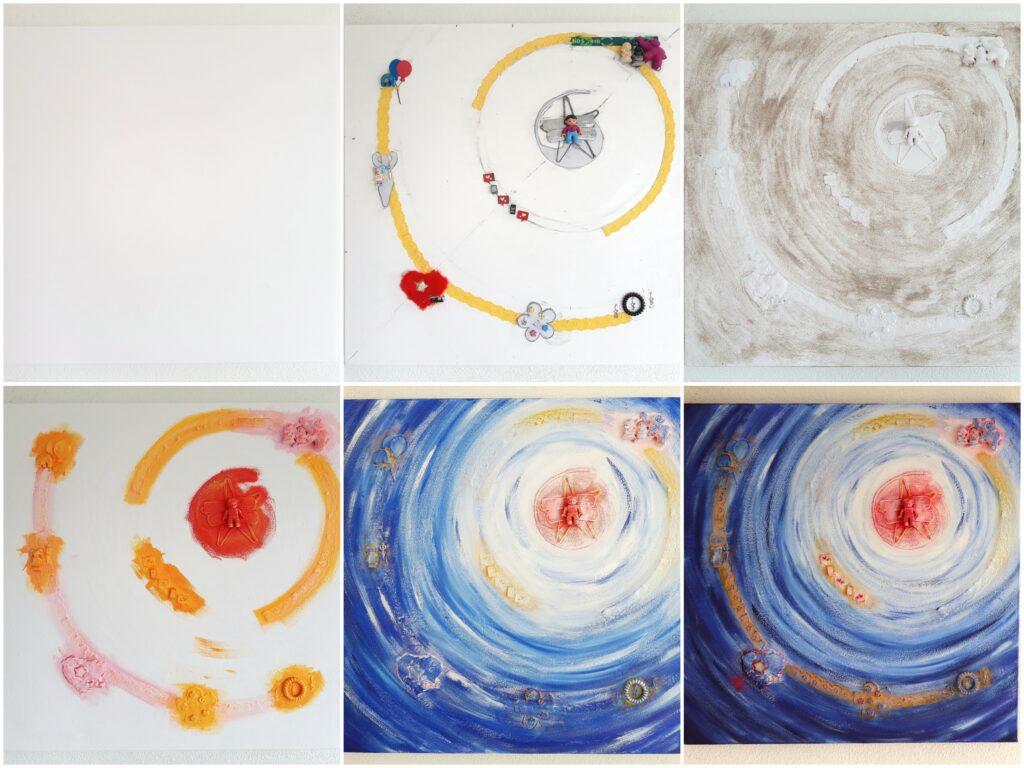 Herinnering schilderij laten maken - Voorbeeld making of