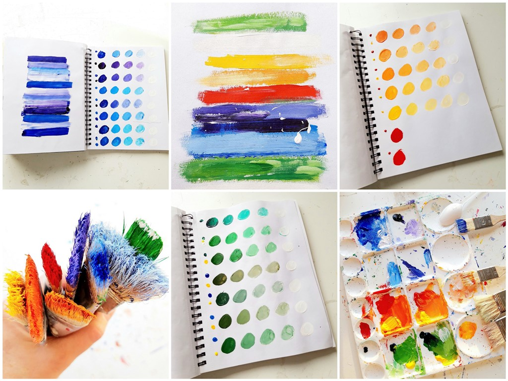 Persoonlijk cadeau huwelijk - voorbeeld kleurenstudie
