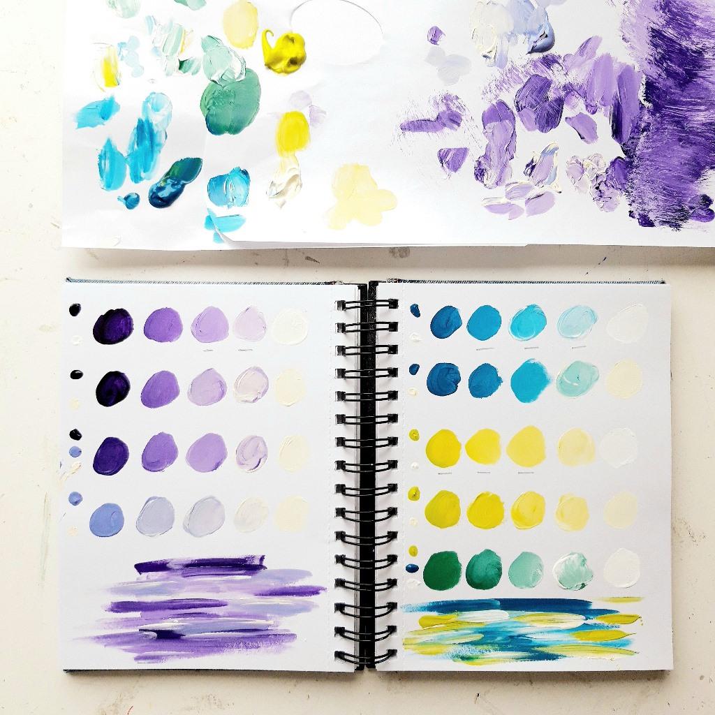 Schilderij op maat - Voorbeeld kleurenstudie I