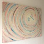 Persoonlijk cadeau voor een moeder - Voorbeeld van een schilderij in opdracht met voorwerpjes
