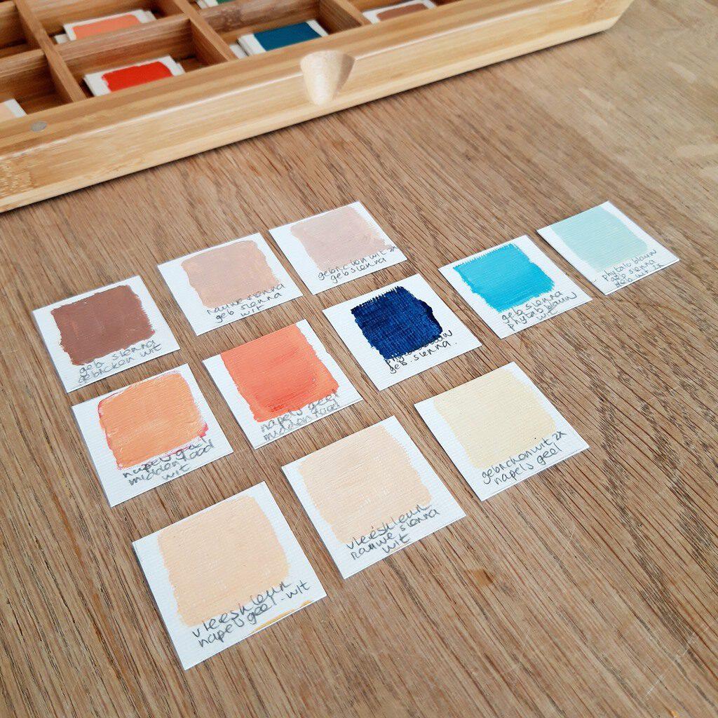 Voorbeeld kleurenpalet - Marloes van Zoelen - Abstracte schilderijen met betekenis