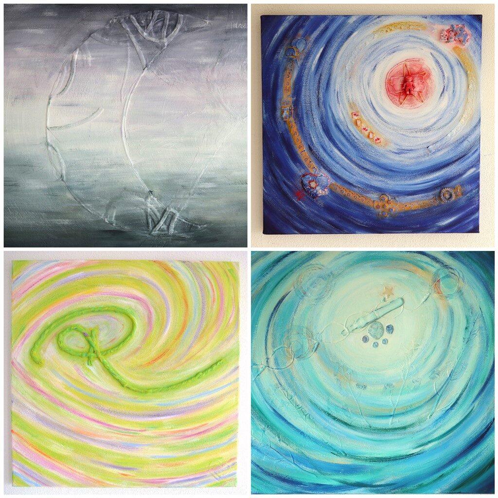 Tastbare herinnering overledene - Voorbeelden herinneringsschilderij - Marloes van Zoelen