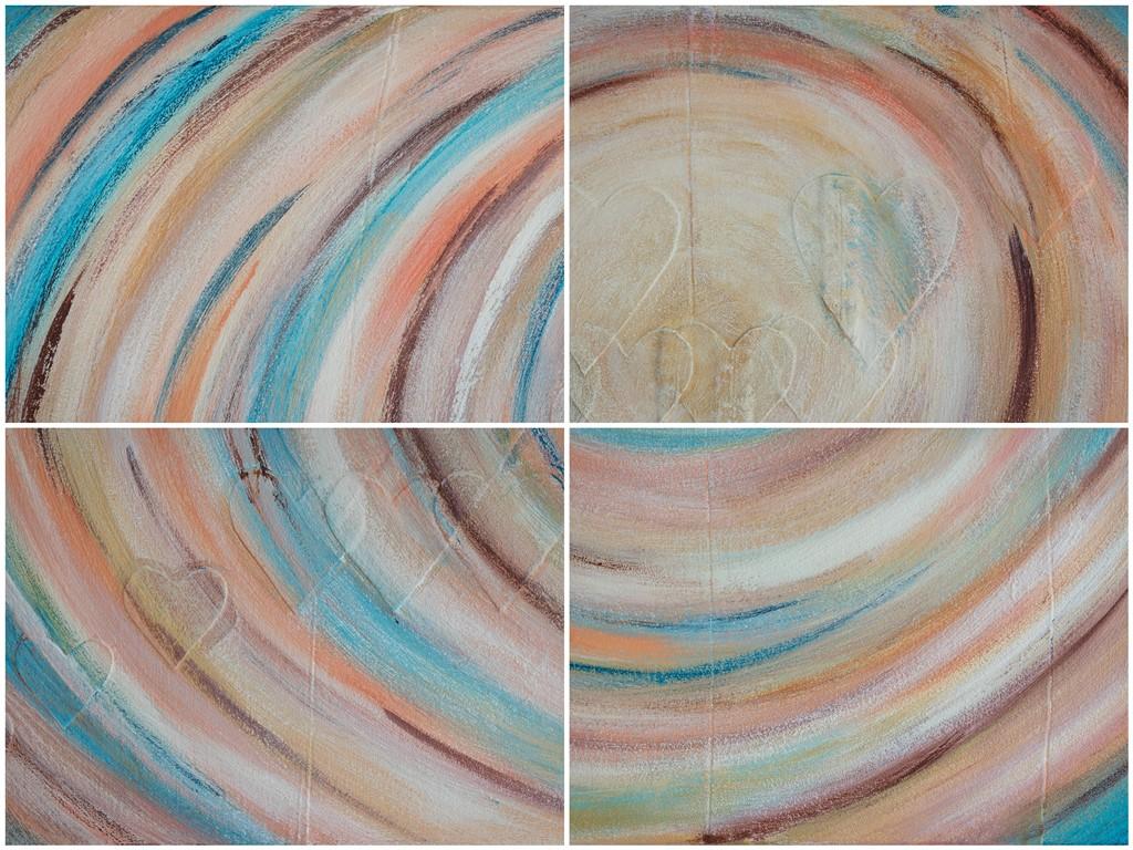 Kunst op kantoor - Voorbeelden van details uit een persoonlijk schilderij