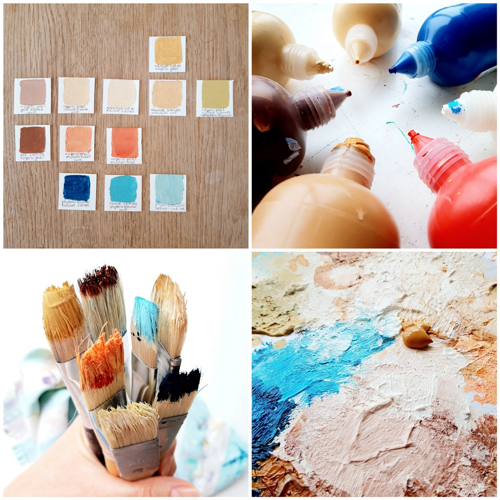 Persoonlijk schilderij - Voorbeeld van een kleurenpalet
