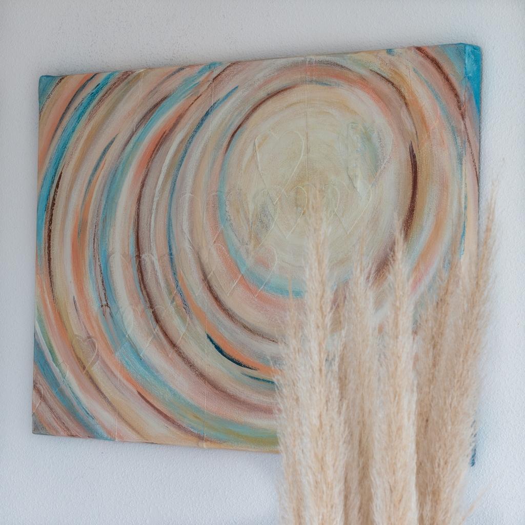Kunst op kantoor? Voorbeeld persoonlijk schilderij op maat.