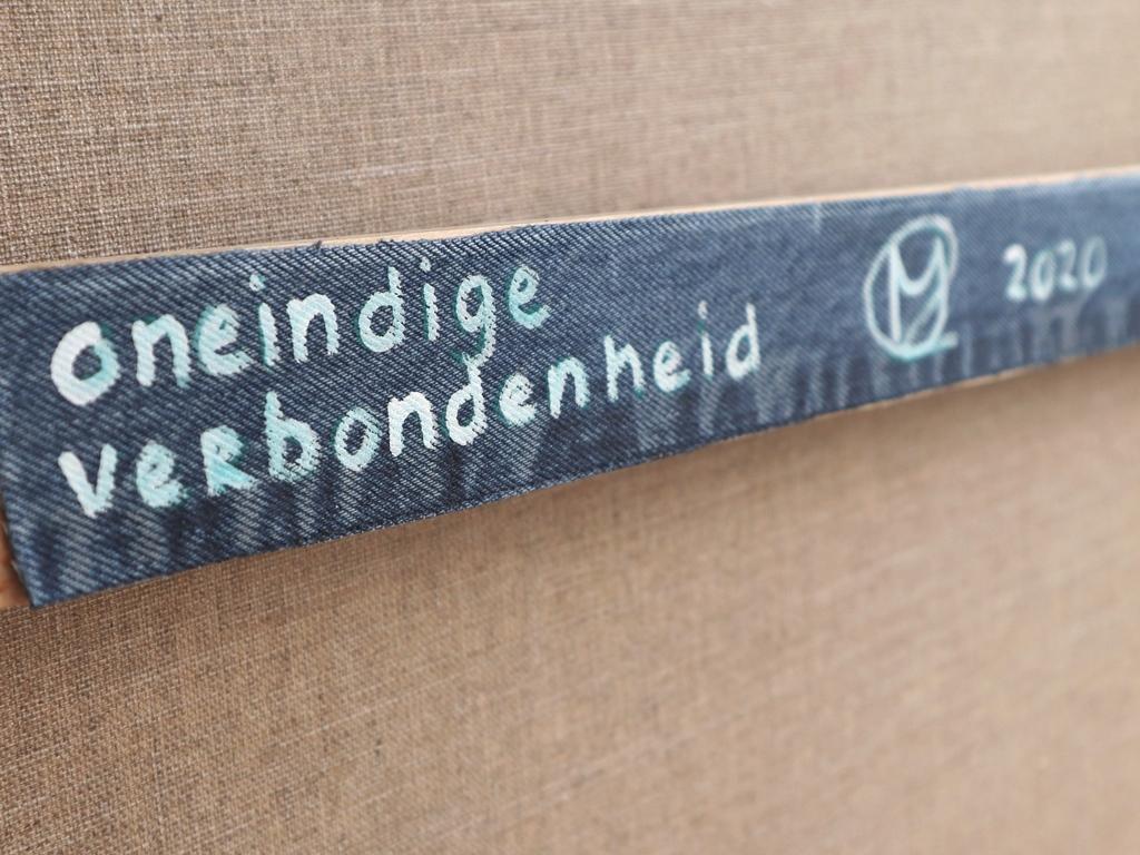 Persoonlijk cadeau 40 jarig huwelijk - detail label