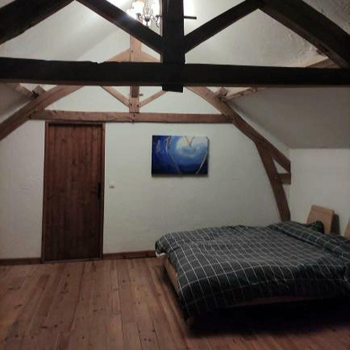Schilderij Engels hart in de slaapkamer van de klant
