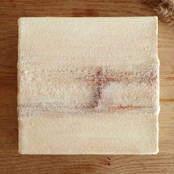 Klein schilderij crème - Stilstaan - Marloes van Zoelen