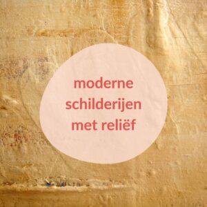 Moderne schilderijen met reliëf - Detail Spoor van liefde II