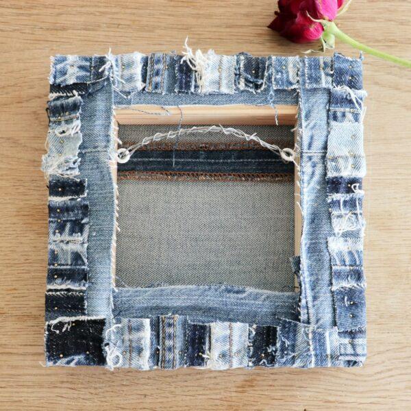Textiel schilderij Diepe verbondenheid - Achterzijde - Marloes van Zoelen